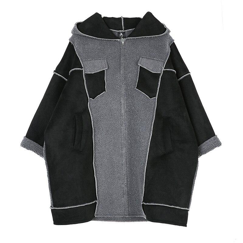 Nouveau Vêtements À Manteau Europe Zipper Taille Sauvage Solide Capuchon Pluz Hiver Black Parkas Couleur Femmes Superaen 2018 fqPZExgg