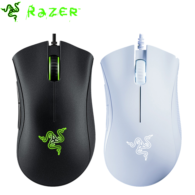 Razer DeathAdder Essential Wired Gaming Mouse 6400DPI Ergonomic Professional-Grade Optical Sensor Razer Mice For Computer Laptop