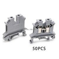 50PCS UK-2.5B 32A/800V DIN 레일 범용 단자대 나사 식 커넥터 AP16