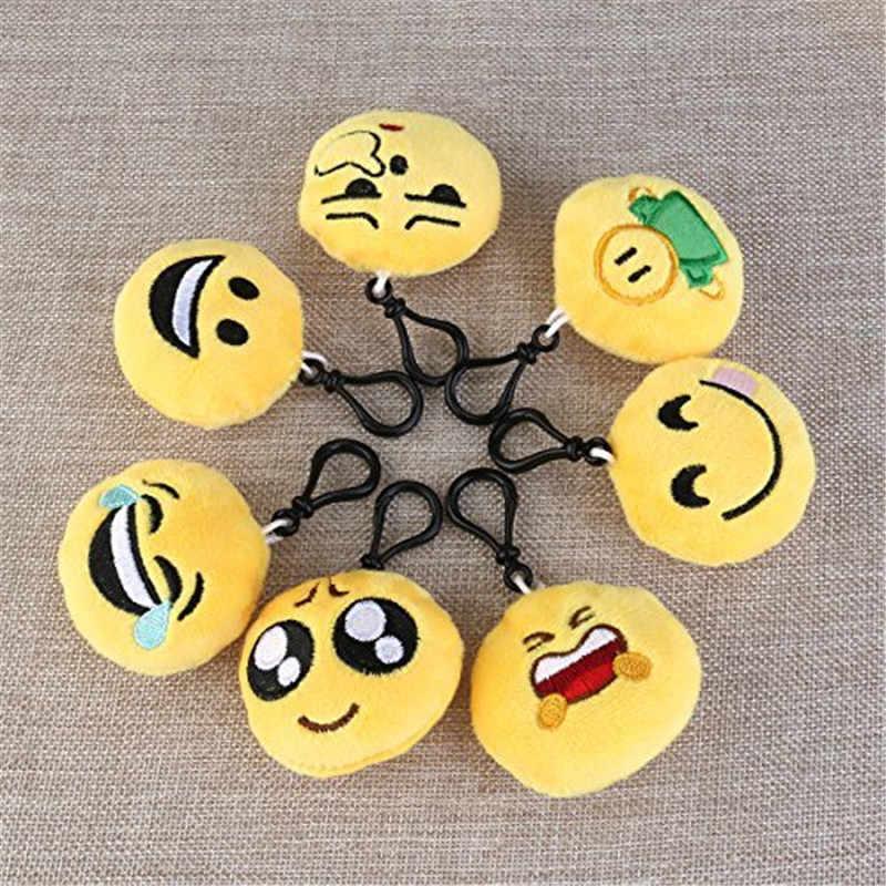 50pcs Emoji Poop Plush Keychain Birthday Party Favors Supplies Mini Pillows Set, Emoticon Backpack Clips Plush Toys