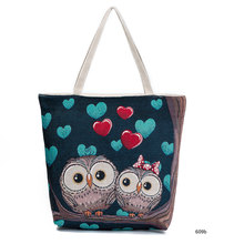 new women canvas handbag totes brand lady national style animal prints casual leisure travelling shopping embroidery