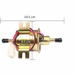 기화기 연료 펌프 12 v 전기 저압 볼트 고정 와이어 디젤 가솔린 HEP-02A 자동차 연료 공급 시스템 오토바이에 대 한