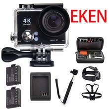 Original EKEN 4 K 30FPS cámara de Acción WiFi h9 Plus h9r Ultra HD 1080 P sj casco 60fps cámara del deporte de dv cam 4000 5000 go pro hero 4