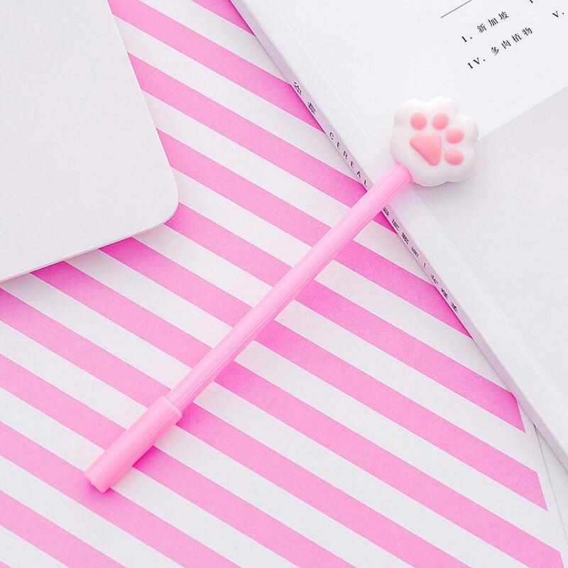 1 Pcs Phiên Bản Dễ Thương Chút Tươi Cô Gái Trẻ Mềm Mại và Dễ Thương Cat Claw Trung Tính Bút Viết Phấn Đấu Thầu Sinh Viên Chữ Ký Màu Đen bút Nước Bút