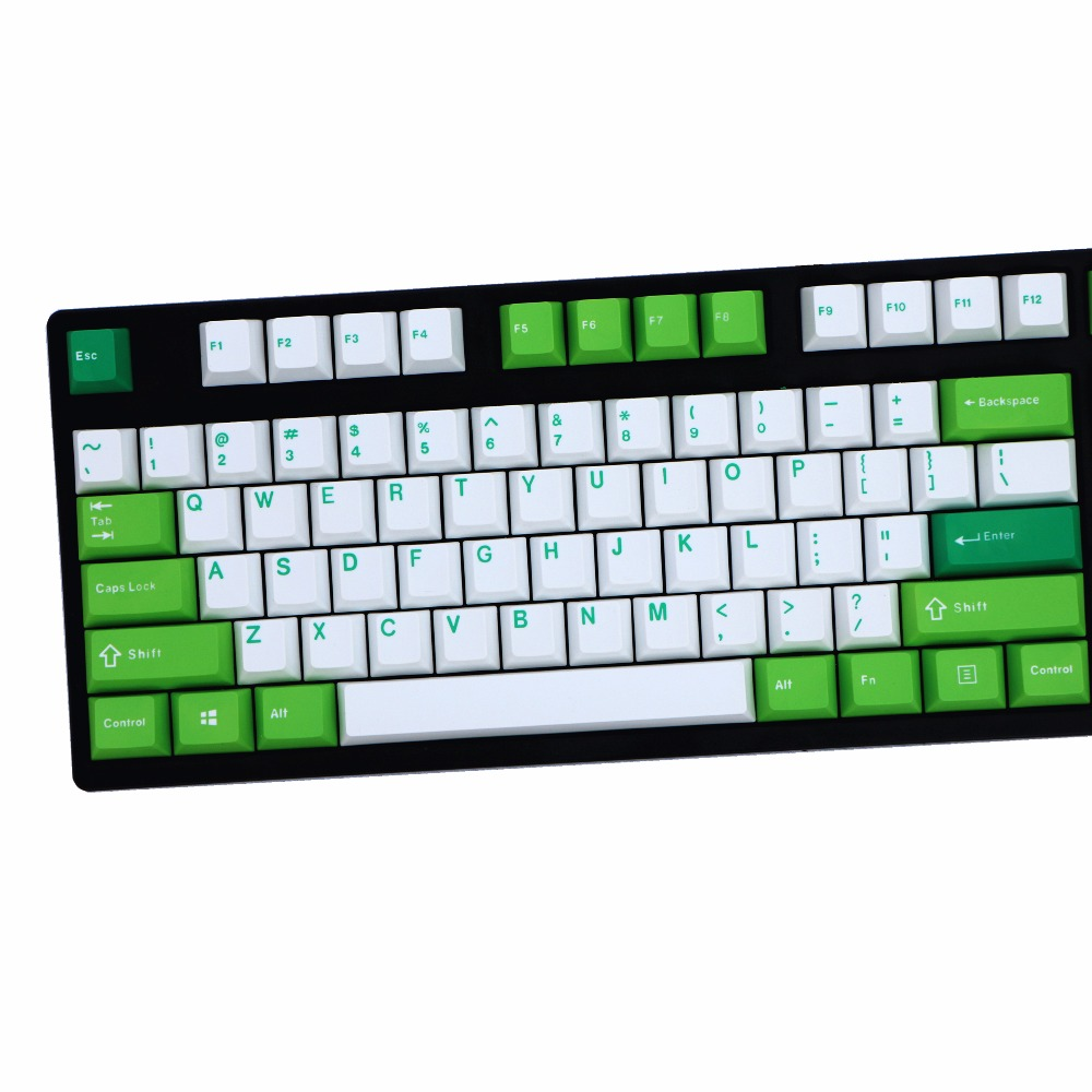 Cheese and green mix Thick PBT double shot 106 Keys Cherry Profile MX switches Mechanical Keyboard keycap Only sell keycaps-in Keyboards from Computer & Office    2