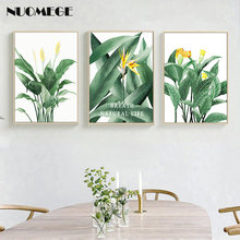 Modern Green Tropical Plant Leaves Canvas Painting Wall Art  Poster Nordic Pictures Kids Room Large Prints No Frame