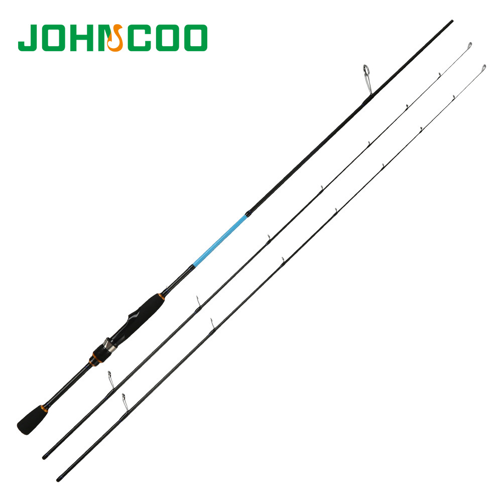 Johncoo UL L Spinning Rod Solid tip 1 92m Fast Action Carbon rod K size ring