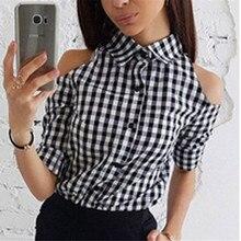 Женские клетчатые рубашки с длинным рукавом, женские облегающие повседневные топы, блузка, обычная хлопковая блузка, Новое поступление, модные рубашки для женщин