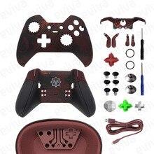 Pièces de rechange pour Xbox One Elite contrôleur Shell boîtier pare chocs boutons poignées pour engrenages de guerre