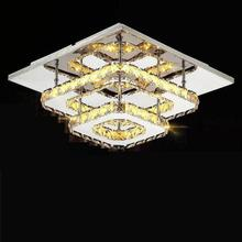 Modern Crystal LED Ceiling lights Fixture For Indoor Lamp lamparas de techo Surface Mounting Ceiling Lamp For Bedroom surface mount led ceiling lights for living room bedroom indoor home fixture square wooden ceiling lamp de techo plafond abajur