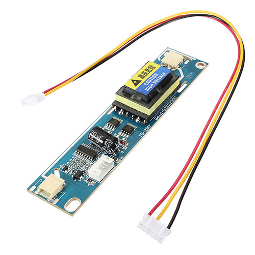 2 Lamp Backlight Universal Laptop LCD CCFL Inverter 10-28V For 10-22 Screen 1pc 6 lamp ccfl universal inverter board for lcd screen monitor with samll connector