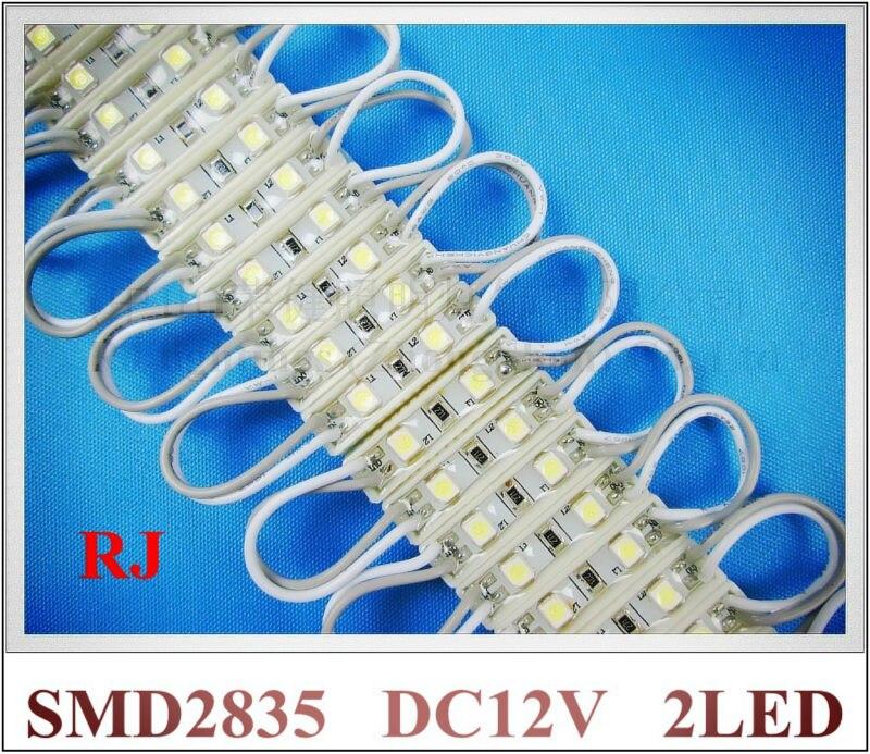 26 мм * 07 мм * 4 мм водонепроницаемый SMD 2835 модуль светодиодные лампы светодиодной подсветкой для мини знак и буквы DC12V 2LED 0.2 Вт Бесплатная доста...