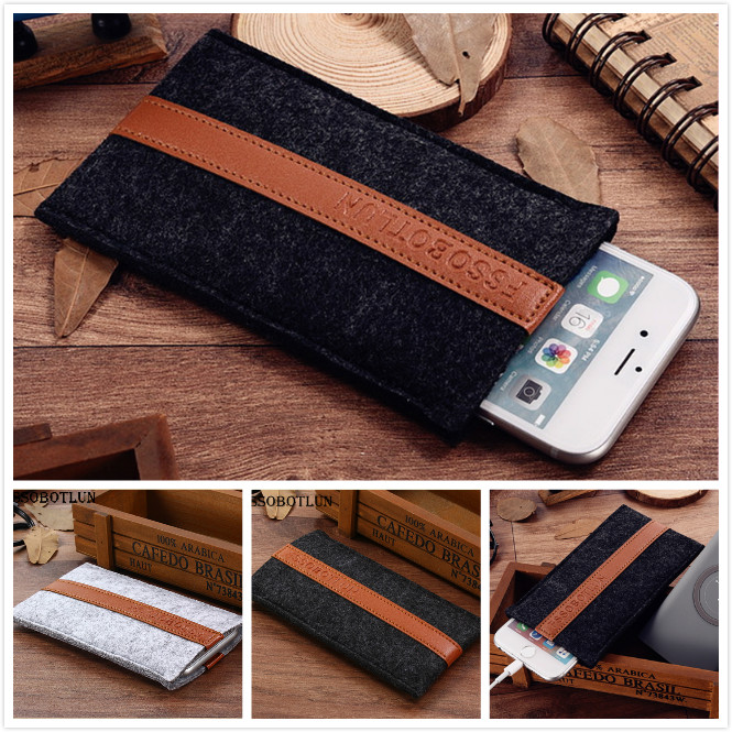FSSOBOTLUN,2 Styles,For Coolpad Defiant 5.0 Case Pocket Phone Case Cover Handmade Wool Felt Protective Sleeve Pouch Bag