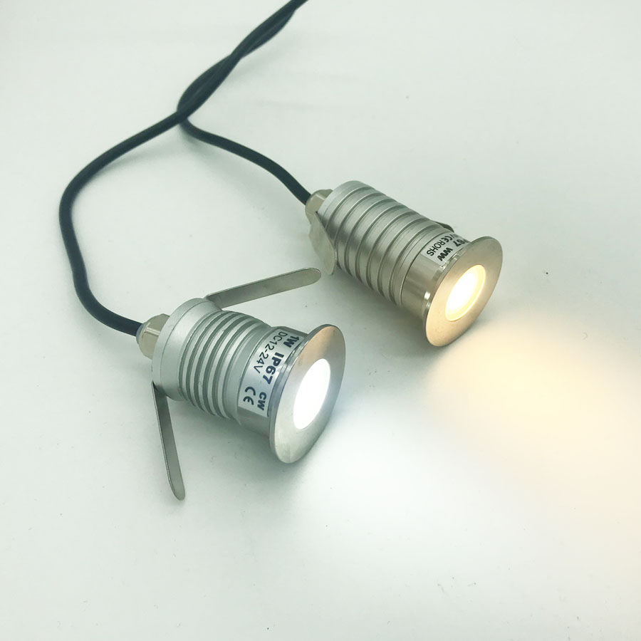 1W <font><b>3W</b></font> IP67 <font><b>CREE</b></font> <font><b>LED</b></font> COB Downlight DC 12V 24V Mini Bulb Spot Lighting for Tunnel Park Outdoor Stair Party Dancing Light image