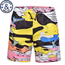 Funny 3D Cartoon Print Men Beach Board Shorts Trunks 2018 Brand New Summer Quick Dry Boardshorts Men Vacation Beach Short Homme(China)