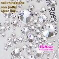 1440 pcs Vidro Limpar Natator Cristal Nail Art Rhinestone SS3-SS50 Não hot fix strass cola no para nail art telefone diy B2012