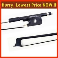 100MB VIOLA BOW Carbon Fiber Stick Ebony Frog Nickel Silver Mounted Natural Black Mongolia Horsehair Violin Parts Accessories