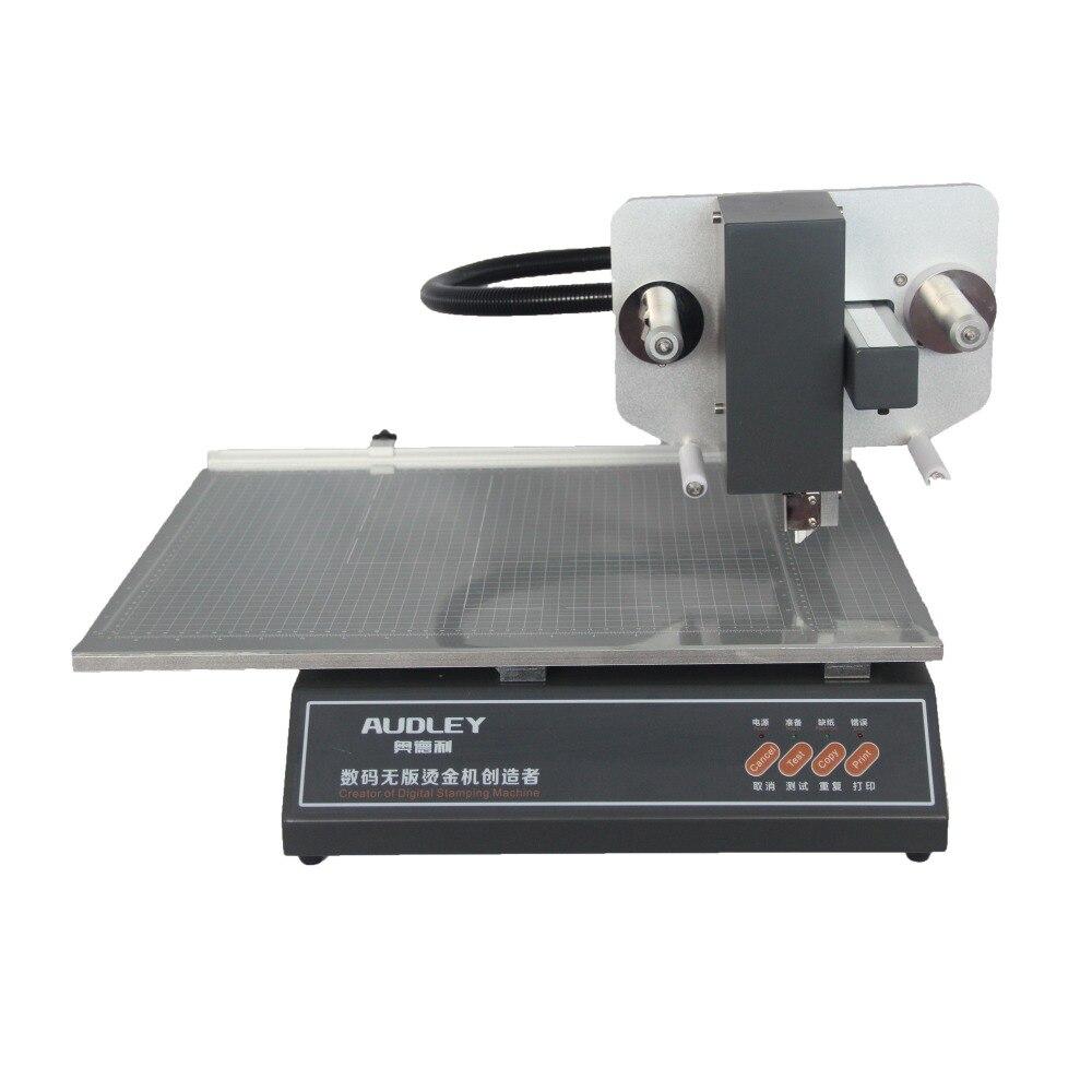 Hot Foil Stamping Machine 220V Digital Foil Printer Plateless Hot Foil Printer on Plastic Leather Notebook Film Paper 3050A+