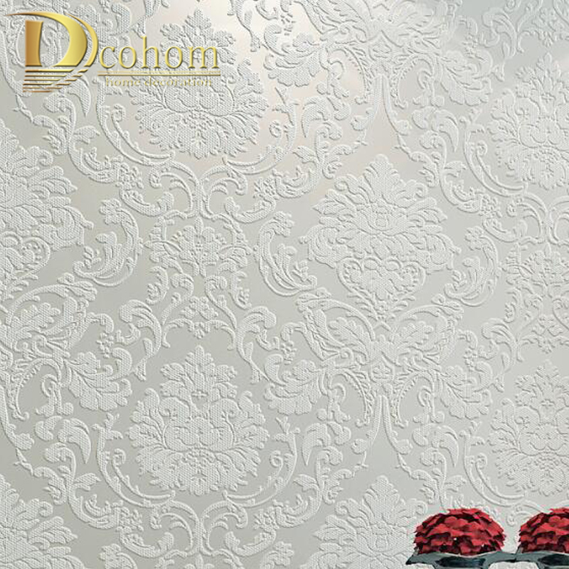 Pink,Beige Cream White Victorian Classic European Floral Damask Wallpaper 3d Stereo Vinyl Wall Paper Roll Home Decor Living Room