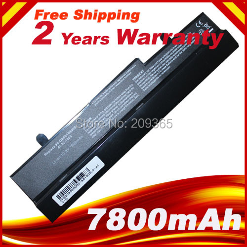 7800mAh Battery for Asus Eee PC EEEPC 1005 1005H 1005HA 1001 1001HA 1001P 1001PX 1101HA Free Shipping
