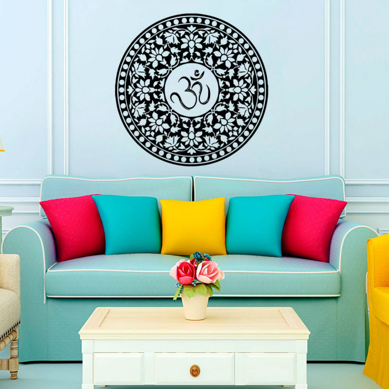 2016 Promotion Indian Mandala Wall Decals Vinyl Sticker Removable Home Decor House Interior