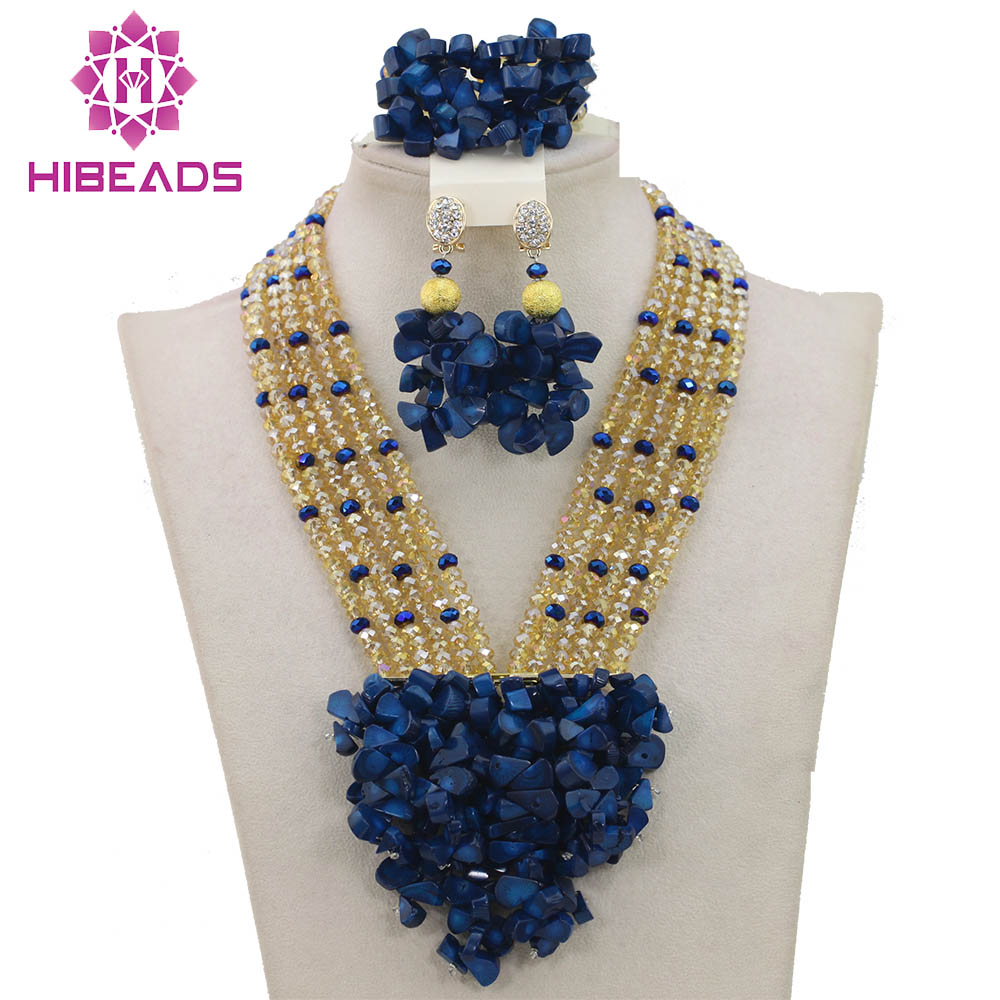 2017 New Blue Nigerian Wedding African Beads Jewelry Set Coral Mix Crystal African Costume Jewelry Set Free Shipping ABF4022017 New Blue Nigerian Wedding African Beads Jewelry Set Coral Mix Crystal African Costume Jewelry Set Free Shipping ABF402