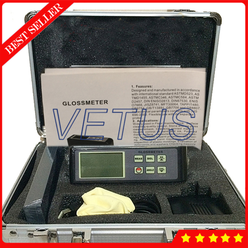 GM 04 ЖК дисплей Gloss Meter с 45 градусов для низкой освещенности окружающей среды автоматическая калибровка Gloss meter