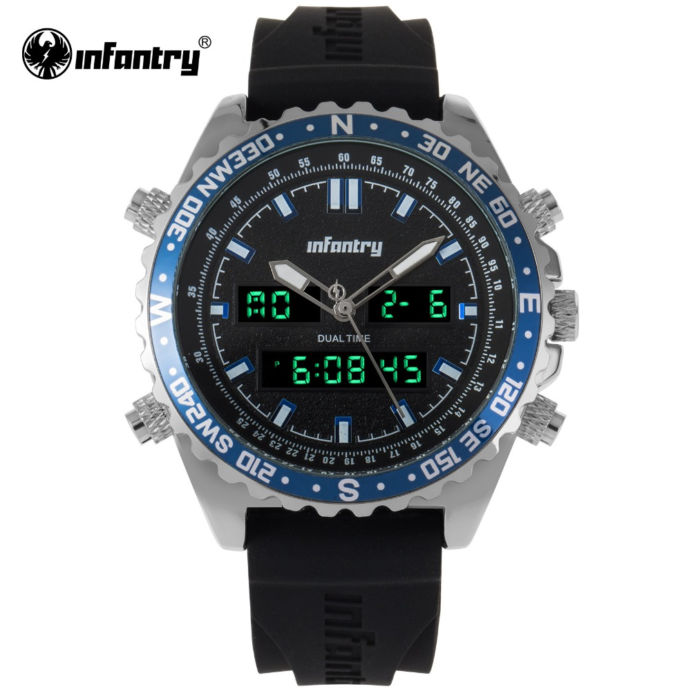 INFANTRY Military Watch Men Digital Quartz Mens Watches Top Brand Luxury Big Army Pilot Sport Watches For Men Relogio Masculino men digital quartz watch military watch sport watches for men mens watches top brand luxury relogio masculino erkek kol saati202