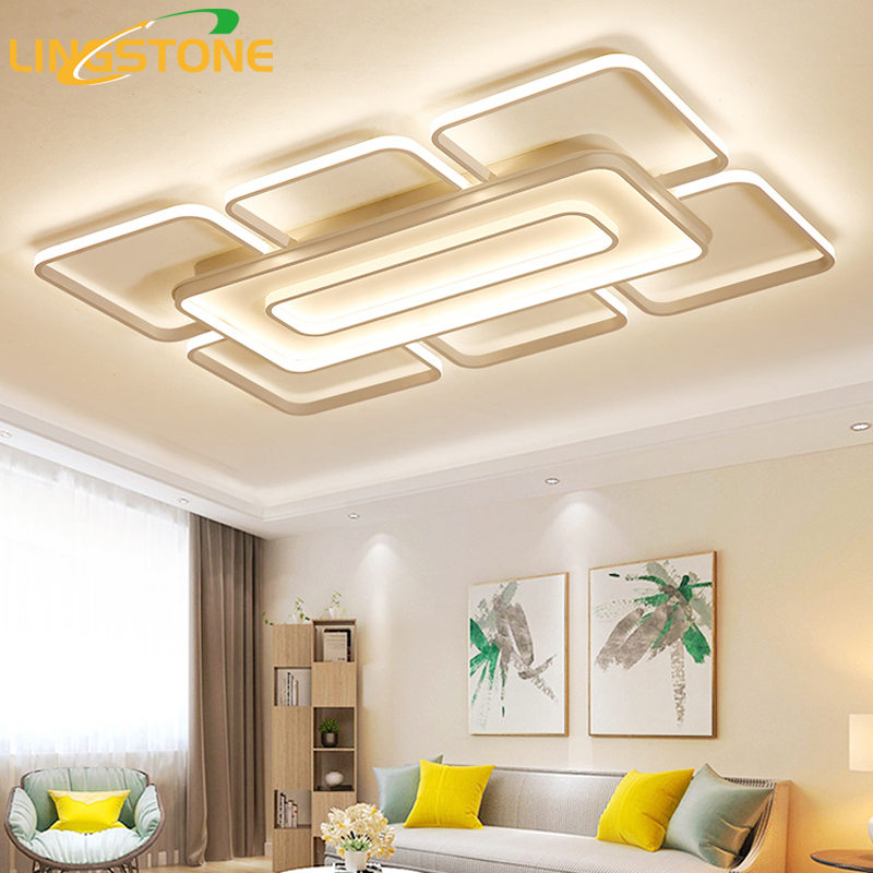 15 Ultra Modern Ceiling Designs For Your Master Bedroom: Modern Ultra Thin Led Ceiling Light With Remote Control
