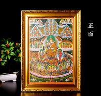 Wholesale Buddhist supplies # Buddhism Protection Guru Rinpoche Padmasambhava Buddha painting ninth Palace eight diagram