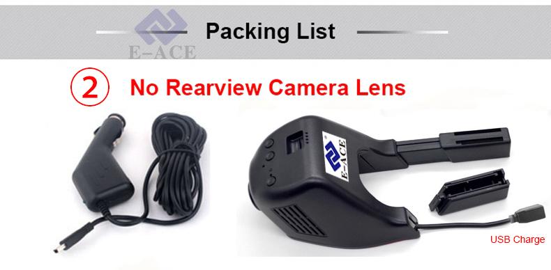 E-ACE Mini Wifi Car Dvr Dash Cam Video Recorder Camcorder Dual Camera Lens 170 Degree Full HD 1080P Reistrator Night Version 30