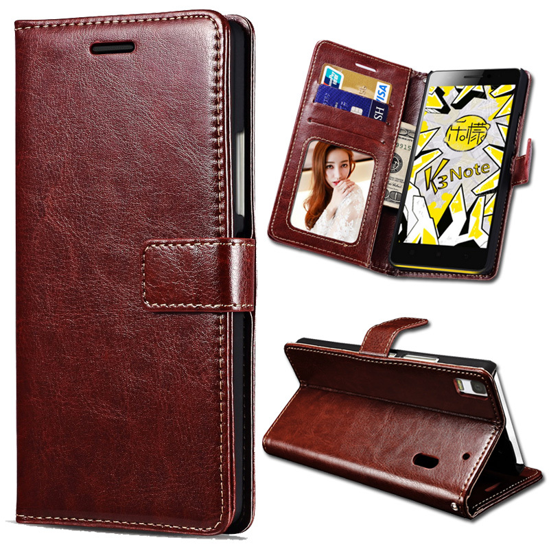 Flip Leather Cover Case For Lenovo K3 Note K50 T5 Phone PU Wallet Bag Stand Cases With Card Slot Fundas for Lenovo Lemon K3 Note