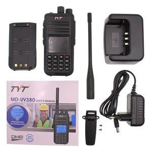 Image 5 - TYT MD UV380 Dual Band 136 174Mhz & 400 480MHz Walkie talkie DMR Digital Two Way Radio MD 380 dual time slot transceiver + USB