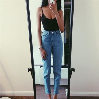 2019 dżinsy kobiece spodnie dżinsowe damskie w stylu Vintage damskie dżinsy typu boyfriend dżinsy z wysokim stanem niebieskie na co dzień spodnie damskie obcisłe dżinsy dla mamy tanie i dobre opinie ai lan fei Poliester Pełnej długości LBT008 Wysoka Zipper fly Jeans Kobiety Fałszywe zamki High Street Zmiękczania