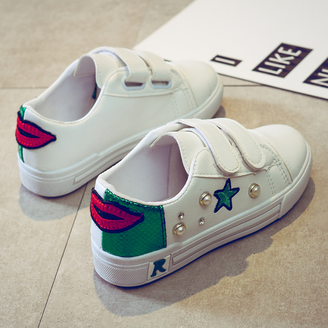 70ce6584ad879 star shoes white shoe male children s shoes new female kids shoes non-slip  stickers in the spring and autumn sneakers loafres