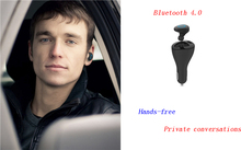 2016 New Bluetooth Car Kit USB Charger Handsfree Bluetooth Receiver Car Adapter Provide Privacy
