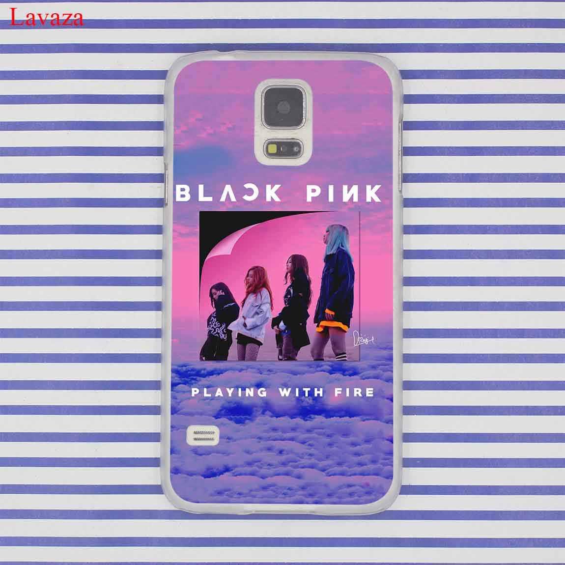 Preto rosa k-pop blackpink kpop collage estojo para samsung galaxy s20 ultra s10 lite s10e s6 s7 borda s8 s9 mais a51 a71 a81 a91
