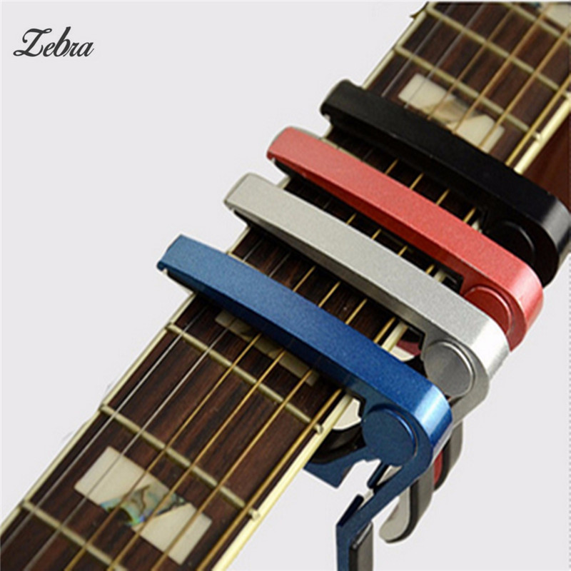 Zebra Acoustic Guitar Capo Classical Guitar Capo Electric Guitarra Capotraste Musical Instrument Guitar Capo Guitar Accessories shark capo for acoustic electric classical guitar zinc alloy musical instrument guitar accessories gc 30
