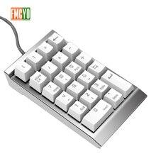 Digitale Tastatur Finanz Buchhaltung Laptop Externe Verdrahtete USB Grün Achse Mechanische Numerische Tastatur