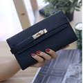 High Quality PU Leather Wallet Female 2 Fold Long Hasp Fashion Women Wallets Coin Pocket Clutch Purse for Ladies