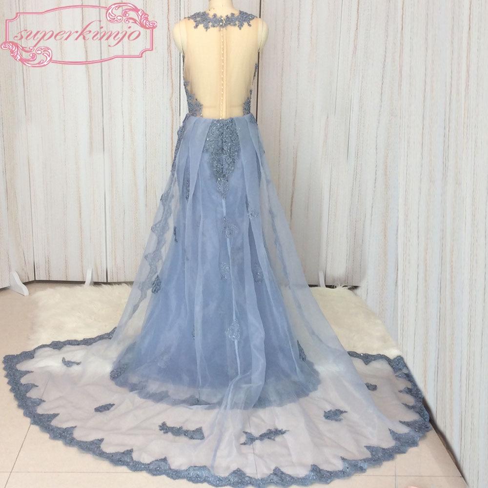 SuperKimJo Detachable Skirt Evening Dresses 2018 Lace Applique ...