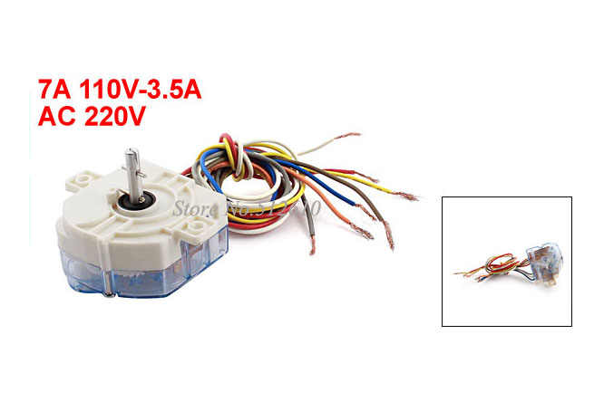 7A AC110V 3.5A AC220V 7 Wires White Controller Timer for Washing Machine
