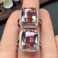 Tamanho da pedra 10*12 MM 925 sterling silver Natural Ametrine cristal anel fine jewelry para mulheres