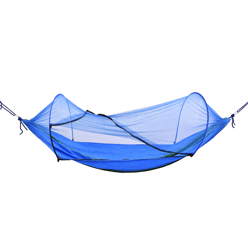 Image 2 - Outdoor Camping Hammock with Mesh Mosquito Bug Net Hanging Swing Sleeping Bed Tree Tent Outdoor Tools-in Outdoor Tools from Sports & Entertainment