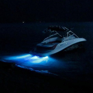 Image 5 - 12V Marine Boat LED Underwater Light Blue Drain Water Lamp Boat Accessories Decoration Lamp from ITC