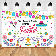 Mehofoto Mexican Carnival Photography Background Color Flag Flower Baby Shower Studio Photo Birthday Party Backdrop