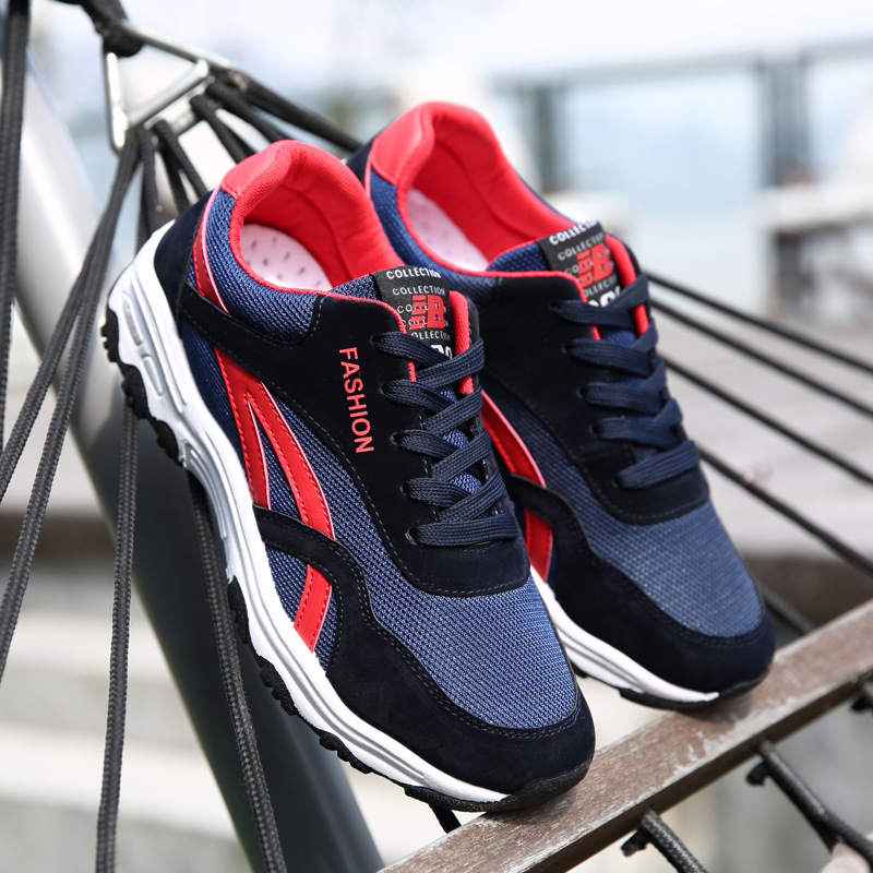 Men Shoes Breathable Low Tide Sports Shoes Breathe Students Fitness Sneaker Men On Foot Shoes Outdoor Track Shoes Male mulinsen breathe shoes men