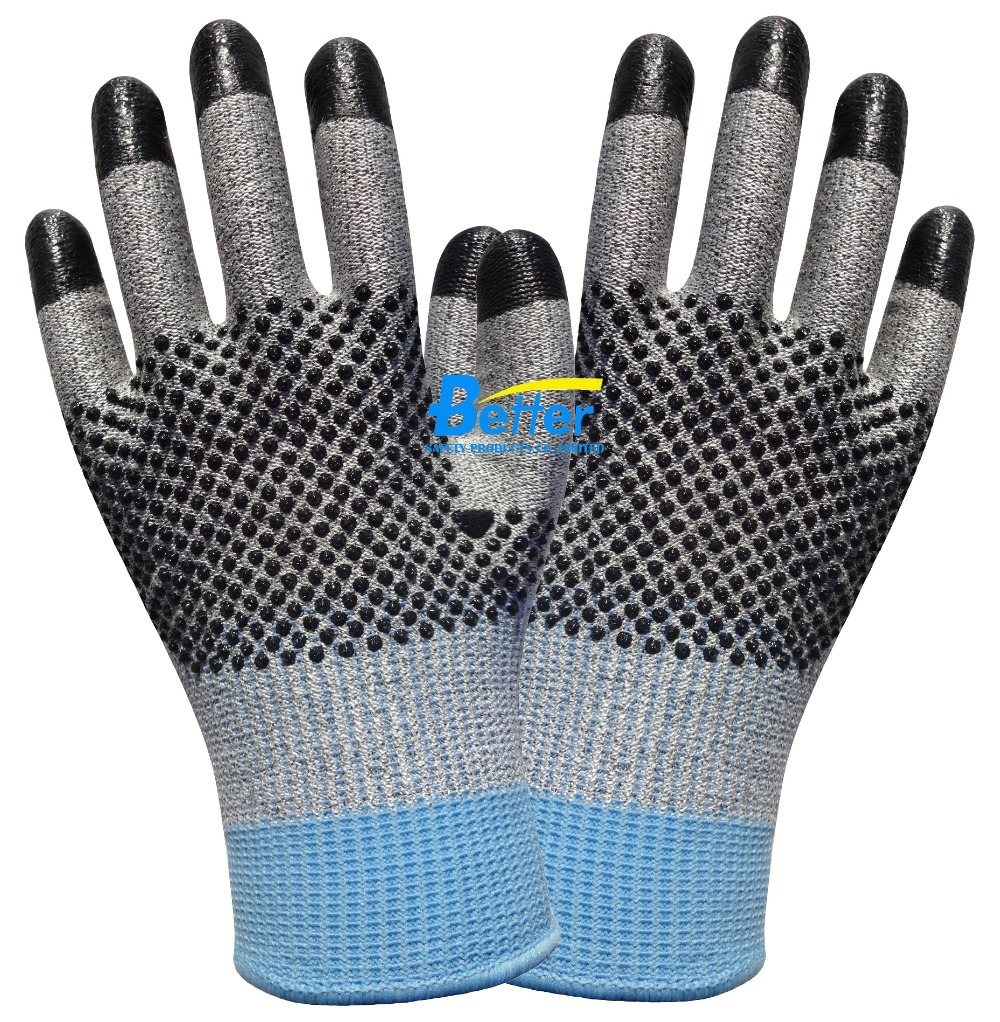 6 Pairs  Cut resistant safety glove HPPE Anti Cut Work Glove anti cut safety glove hppe cut resistant work glove