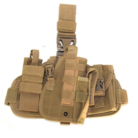 Adjustable Holster Magazine Pouch Military Airsoft Nylon Hunting Tactical Pistol Drop Holster Thigh Gun Holsters