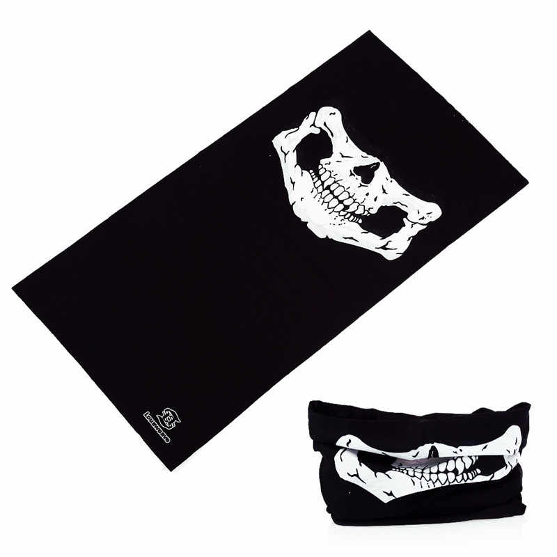 Бандана с черным черепом повязка на голову велосипед хиджаб Многофункциональный бесшовная цилиндрическая волшебная маска для лица трубчатый шарф платок Спорт 52